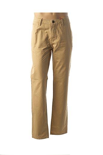 Pantalon casual beige MUSTO pour homme