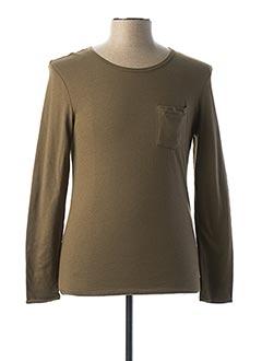 T-shirt manches longues vert PAUL & JOE pour homme