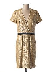 Robe mi-longue jaune BURBERRY pour femme seconde vue