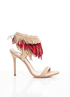 Sandales/Nu pieds beige APERLAI pour femme