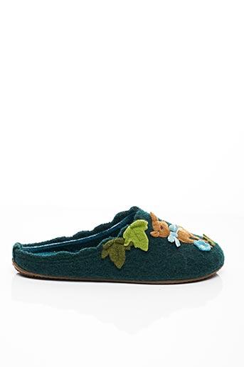 Chaussons/Pantoufles vert LIVING KITZBÜHEL pour femme