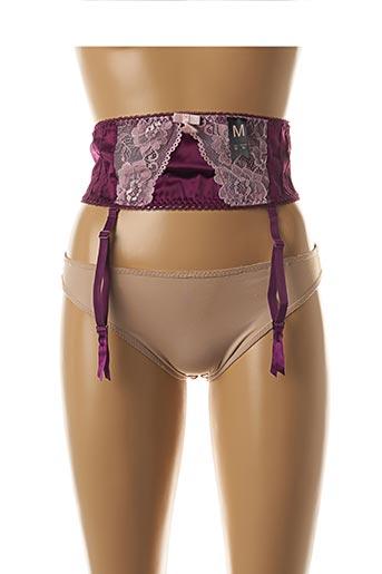 Guêpière/Porte-jarretelle violet BY ELISA pour femme