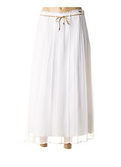 Jupe longue blanc DDP pour femme