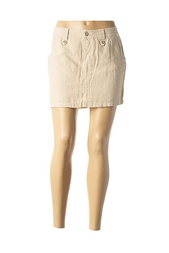 Mini-jupe beige OXBOW pour femme