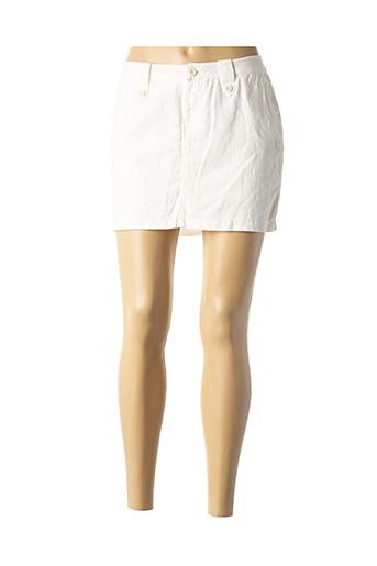 Mini-jupe blanc OXBOW pour femme