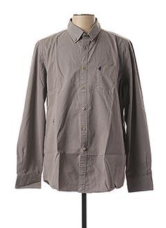 Chemise manches longues gris MCS pour homme