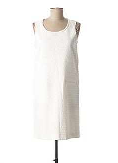 Robe mi-longue blanc DANIEL HECHTER pour femme