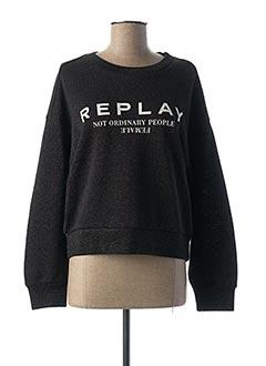 Sweat-shirt noir REPLAY pour femme