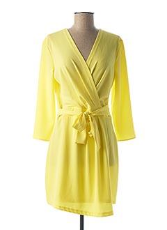 Robe courte jaune IMPERIAL pour femme