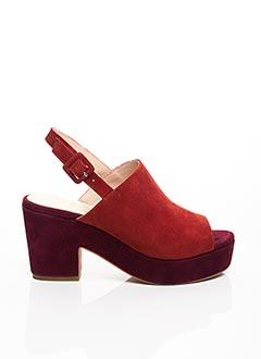 Sandales/Nu pieds rouge NO NAME pour femme
