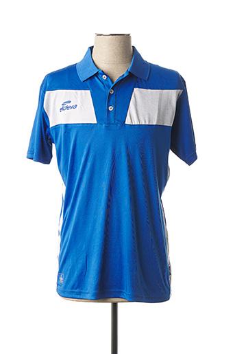 Polo manches courtes bleu ELDERA pour homme