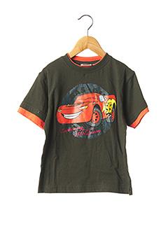 T-shirt manches courtes vert CARS pour garçon
