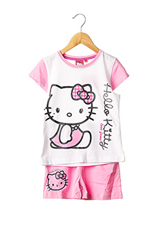 Pyjashort rose HELLO KITTY pour fille
