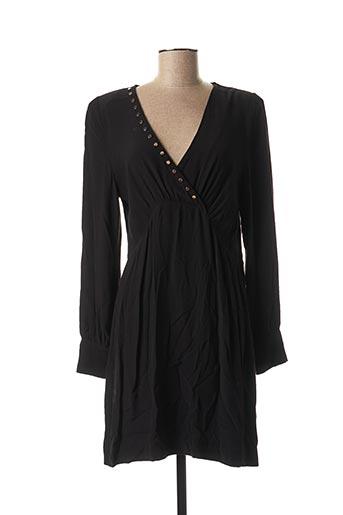 Robe mi-longue noir BERENICE pour femme