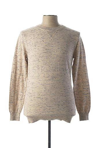 Pull col rond beige SCOTCH & SODA pour homme