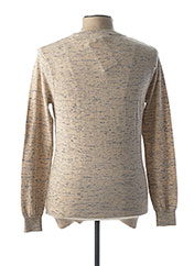 Pull col rond beige SCOTCH & SODA pour homme seconde vue