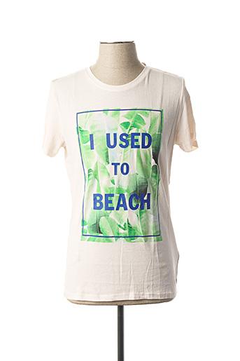 T-shirt manches courtes rose SCOTCH & SODA pour homme