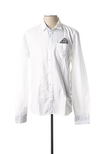 Chemise manches longues blanc SCOTCH & SODA pour homme