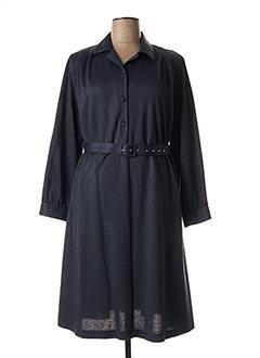 Robe mi-longue bleu 20/20 pour femme