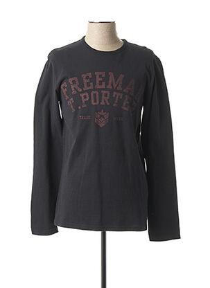 T-shirt manches longues noir FREEMAN T.PORTER pour homme