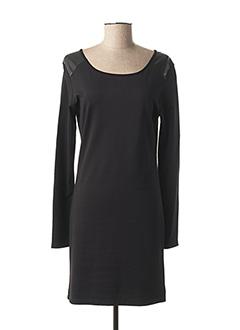 Robe mi-longue noir COQUELICOT pour femme