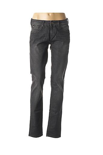 Jeans coupe slim noir FREEMAN T.PORTER pour femme