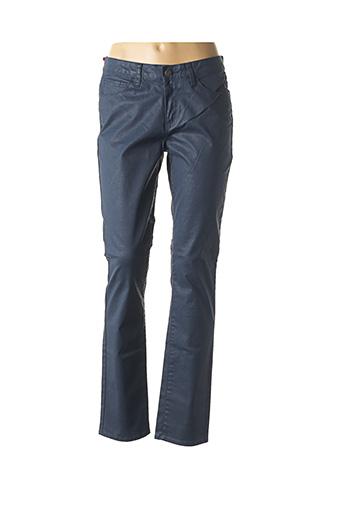 Pantalon chic bleu KANOPE pour femme