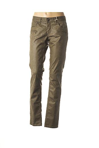 Pantalon chic vert FREEMAN T.PORTER pour femme