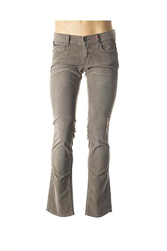 Pantalon casual beige FREEMAN T.PORTER pour femme
