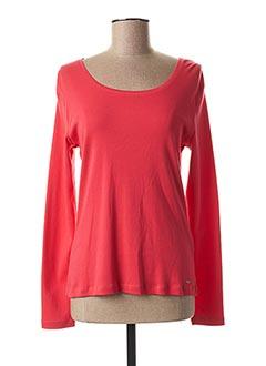 T-shirt manches longues rouge FELINO pour femme