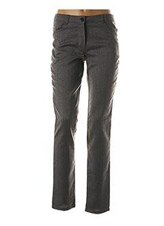Pantalon casual gris FELINO pour femme