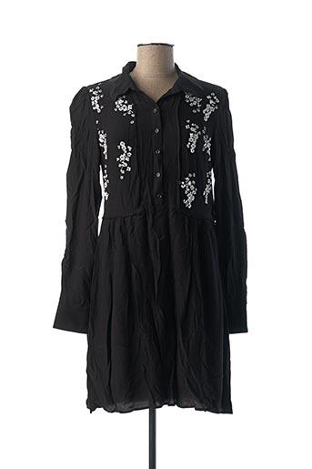 Robe courte noir IDANO pour femme