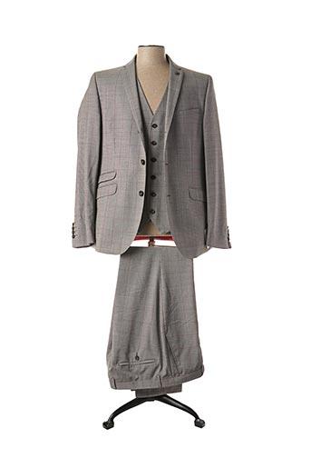 Costume de ville gris CARL GROSS pour homme