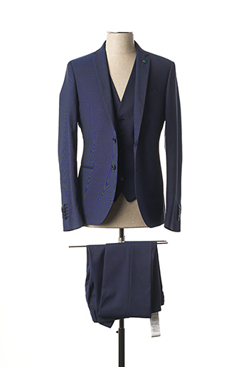 Costume de ville bleu MANUEL RITZ pour homme