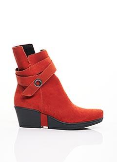 Bottines/Boots orange HIRICA pour femme