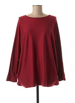 Pull col rond rouge BLUOLTRE pour femme