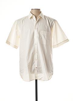 Chemise manches courtes beige JEAN CHATEL pour homme