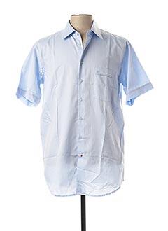 Chemise manches courtes bleu JEAN CHATEL pour homme