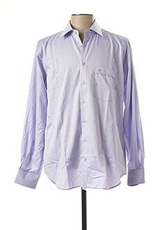 Chemise manches longues violet JEAN CHATEL pour homme