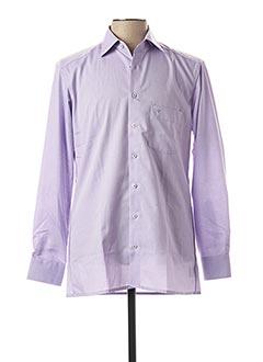 Chemise manches longues violet MARVELIS pour homme