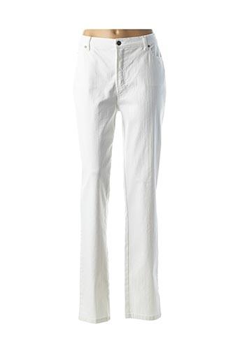 Pantalon casual blanc KARTING pour femme