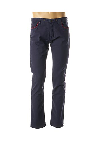Pantalon casual bleu CARNET DE VOL pour homme