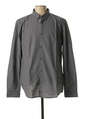 Chemise manches longues noir TOM TAILOR pour homme