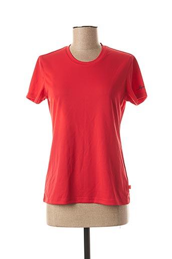 T-shirt manches courtes rouge ICEPEAK pour femme