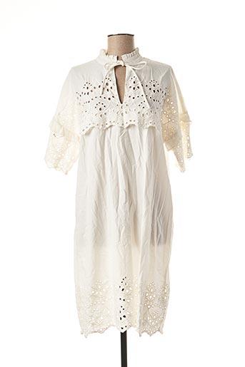 Robe mi-longue blanc YAYA pour femme