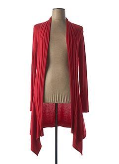 Gilet manches longues rouge GELCO pour femme