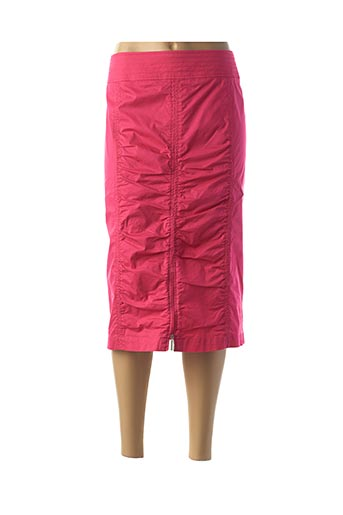Jupe mi-longue rose FRANK WALDER pour femme