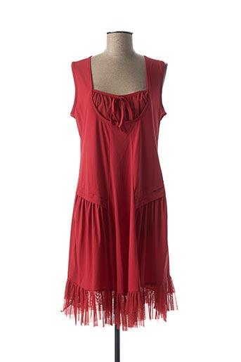 Robe mi-longue rouge DOUBLE JEU pour femme