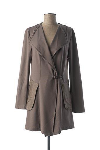 Veste casual marron DECA pour femme