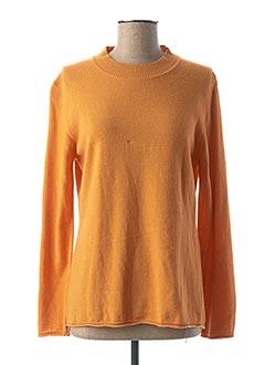 Pull col cheminée orange FELINO pour femme
